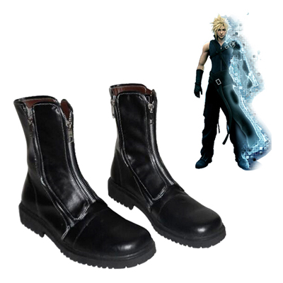 Final Fantasy Cloud Strife Schwarz Faschings Stiefel Cosplay Schuhe