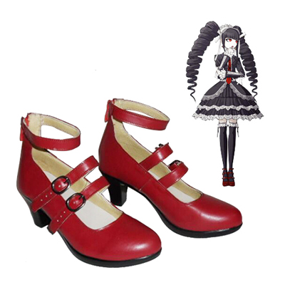 Danganronpa: Trigger Happy Havoc Celestia·Ludenbeck Red Chaussures Carnaval Cosplay