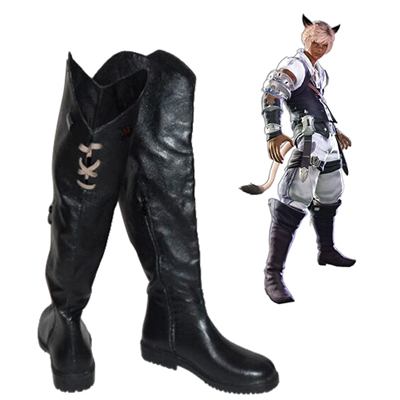 Final Fantasy XIV Miqo'te Men's Chaussures Carnaval Cosplay