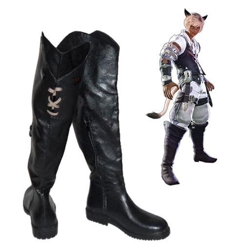 Final Fantasy XIV Miqo\'te Men\'s Chaussures Carnaval Cosplay