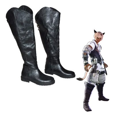Final Fantasy XIV Miqo'te Men's Bottes Carnaval Cosplay
