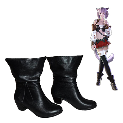 Final Fantasy XIV Miqo'te Female Faschings Stiefel Cosplay Schuhe