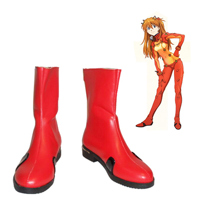 Neon Genesis Evangelion Asuka Langley Soryu Cosplay Shoes Red
