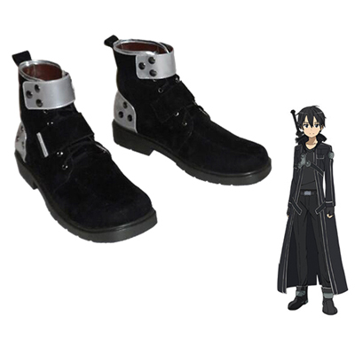 Sword Art Online Kirigaya Kazuto Boots Cosplay Shoes UK