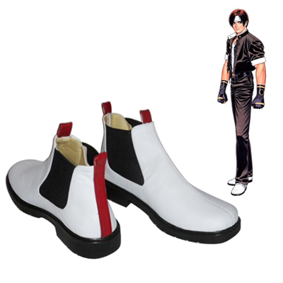 The King of Fighters Kyo Kusanagi Chaussures Carnaval Cosplay