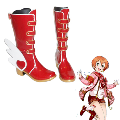 Love Live! Rin Hoshizora Valentine Chocolate Red Faschings Stiefel Cosplay Schuhe
