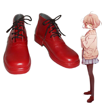 Zapatos Beyond the Boundary Kuriyama Mirai Cosplay Botas