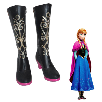 Frozen Anna Cosplay Boots UK