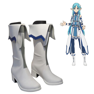 Sword Art Online Calibur Asuna Cosplay Shoes
