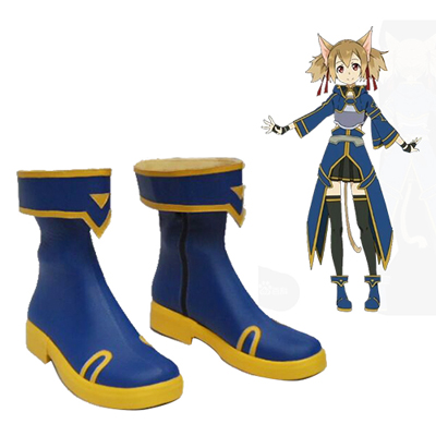 Sword Art Online Calibur Silica Keiko Ayano Cosplay Shoes