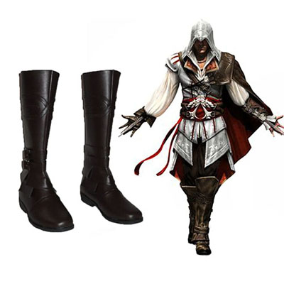 Assassin's Creed Ezio Auditore Cosplay Stivali Carnevale