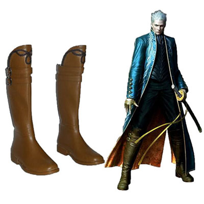 Devil May Cry Vergil Faschings Stiefel Cosplay Schuhe