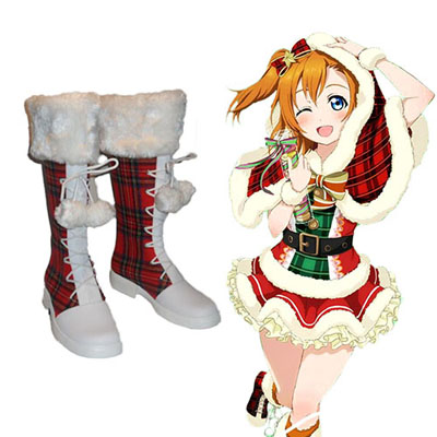 Love Live! Honoka Kousaka Nozomi Tojo Christmas Cosplay Karnevál Cipő