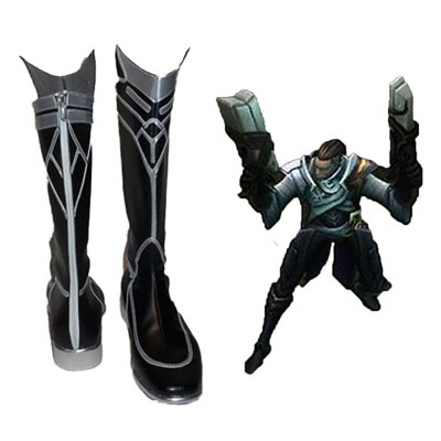 League of Legends Lucian Faschings Stiefel Cosplay Schuhe