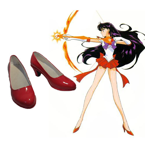 Sailor Moon Hino Rei Sapatos Carnaval