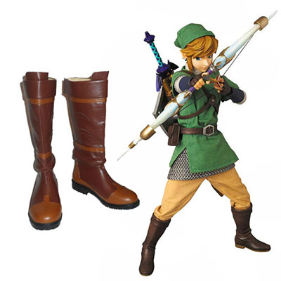 The Legend of Zelda Twilight Princess Link Faschings Stiefel Cosplay Schuhe