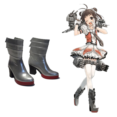 Zapatos Kantai Collection Sendai Jintsū Naka Cosplay Botas