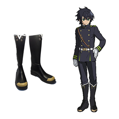 Zapatos Seraph of the End Yuichiro Hyakuya Hiiragi Shinoa Cosplay Botas