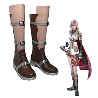 Final Fantasy XIII Eclair Farron Lighting Faschings Stiefel Cosplay Schuhe