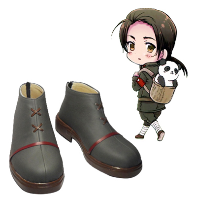 Axis Powers Hetalia Wang Yao Cosplay Scarpe Carnevale