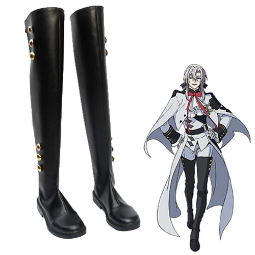 Seraph of the End Mikaela Hyakuya Ferid Bathory Chaussures Carnaval Cosplay