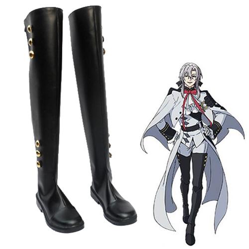 Seraph of the End Mikaela Hyakuya Ferid Bathory Faschings Stiefel Cosplay Schuhe