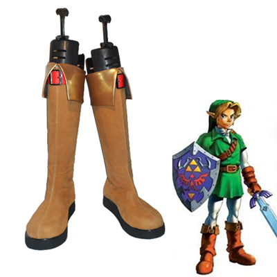 The Legend of Zelda Ocarina of Time Link Cosplay Sko Karneval Støvler