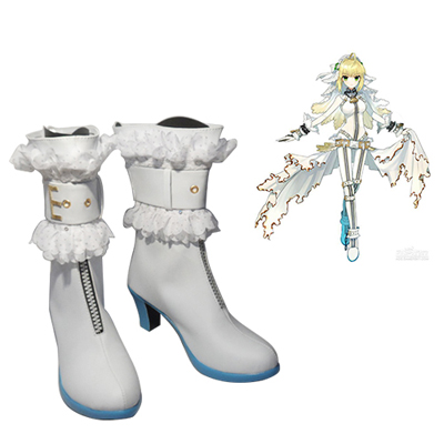 Fate/stay night CCC Saber Bride Faschings Stiefel Cosplay Schuhe