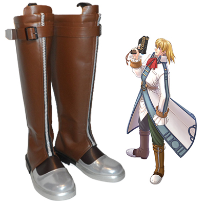The Legend of Heroes: Trails in the Sky Olivier Lenheim Faschings Stiefel Cosplay Schuhe