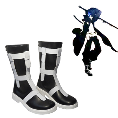 Vocaloid Preto Rock Shooter Sapatos Carnaval