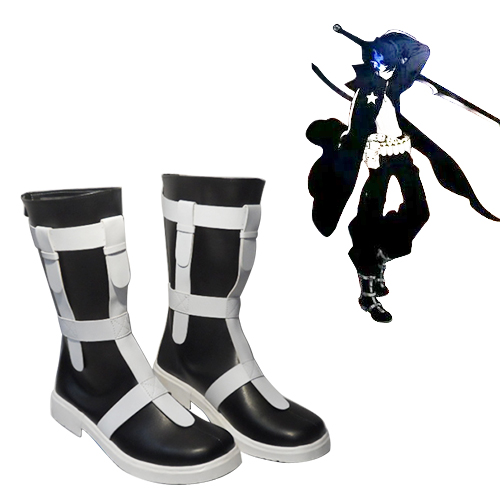 Vocaloid Schwarz Rock Shooter Faschings Stiefel Cosplay Schuhe