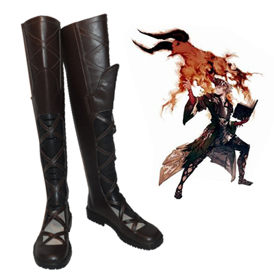 Final Fantasy XIV Summoner Cosplay Scarpe Carnevale