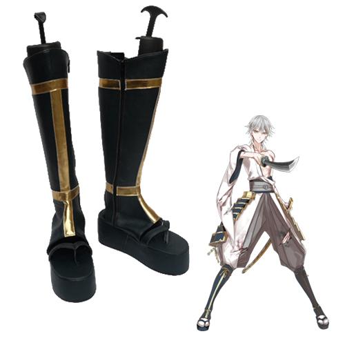 Touken Ranbu Online Tsurumaru Kuninaga Faschings Stiefel Cosplay Schuhe