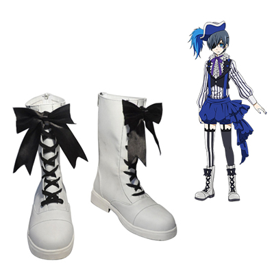 Black Butler Book of Circus Ciel Phantomhive Faschings Stiefel Cosplay Schuhe