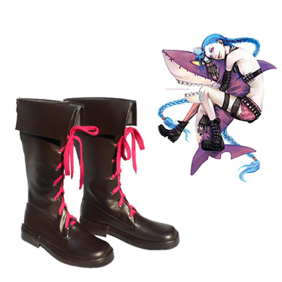 League of Legends Jinx Faschings Stiefel Cosplay Schuhe