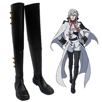 Seraph of the End Ferid Bathory Mikaela Hyakuya Chaussures Carnaval Cosplay