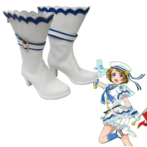 Love Live! Hanayo Koizumi Navy Activities Suit Sapatos Carnaval