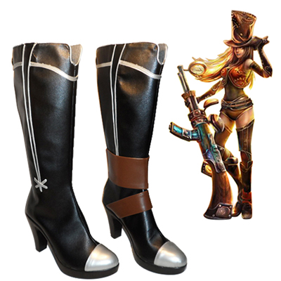League of Legends the Sheriff of Piltover Faschings Stiefel Cosplay Schuhe