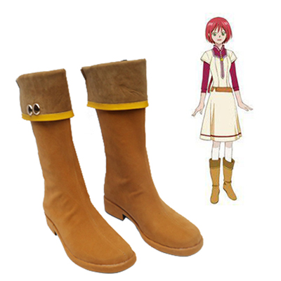 Snow White with the Rosso Hair Shirayuki Cosplay Scarpe Carnevale