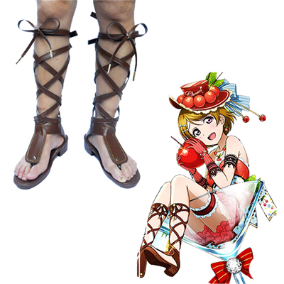 Zapatos Love Live! Summer Fruit Girl Cherry Hanayo Koizumi Cosplay Botas
