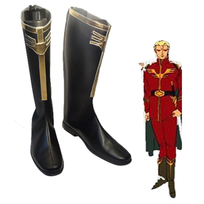 Zapatos Mobile Suit Gundam Wing Char Aznable Cosplay Botas