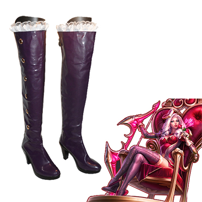 League of Legends Ashe Faschings Stiefel Cosplay Schuhe