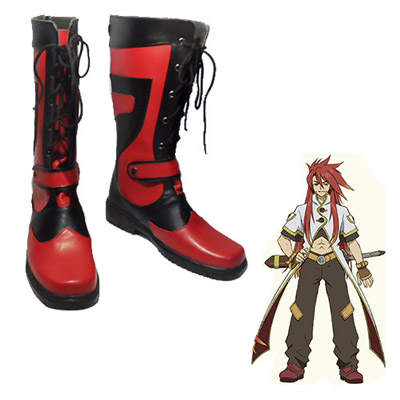 Tales of the Abyss Luke fone Fabre Cosplay Sko Karneval Støvler