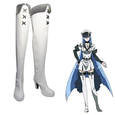 Akame ga Kill! Esdeath Faschings Stiefel Cosplay Schuhe