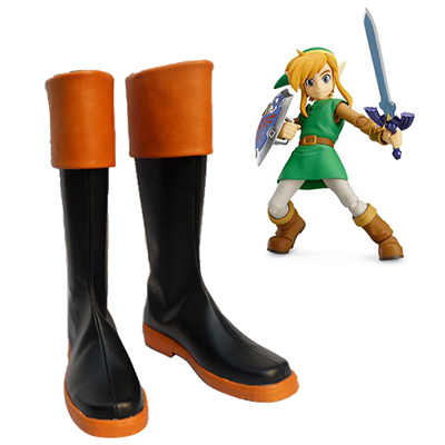 The Legend of Zelda Triforce of the Gods Link Faschings Stiefel Cosplay Schuhe