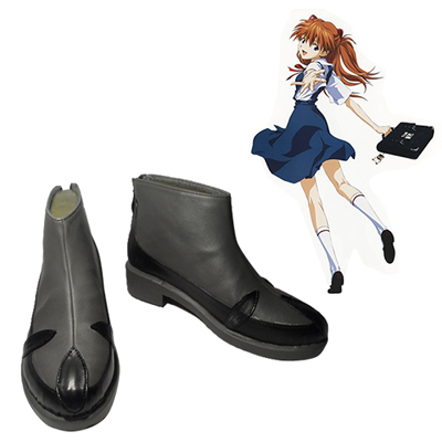 Neon Genesis Evangelion Asuka Langley Soryu Cosplay Shoes Black