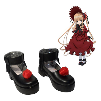 Rozen Maiden Shinku Pure Ruby Faschings Stiefel Cosplay Schuhe