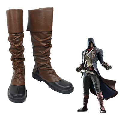 Assassin's Creed: Unity Arno Victor Dorian Faschings Stiefel Cosplay Schuhe