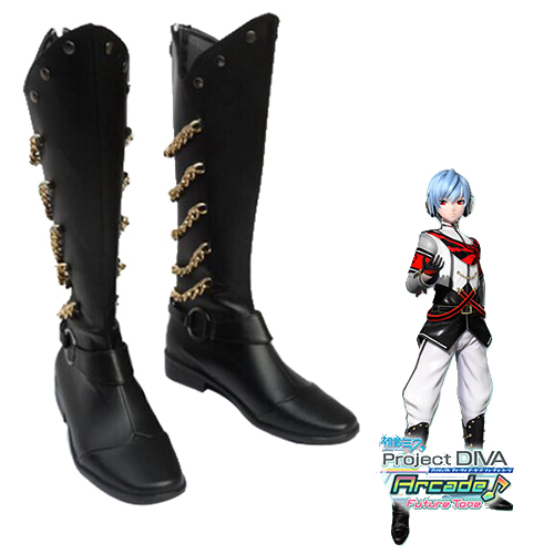 Vocaloid Hatsune Miku: Project DIVA Kaito Faschings Stiefel Cosplay Schuhe