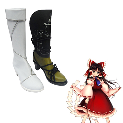 Touhou Project Hakurei Reimu Cosplay Boots UK